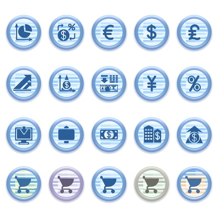 Blue web icons set 23 Stock Vector - 13459443