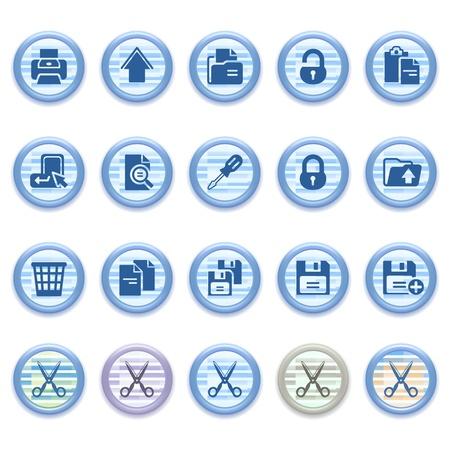 save as: Blue web icons set 24 Illustration