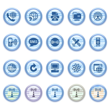 Blue web icons set 26 Vector
