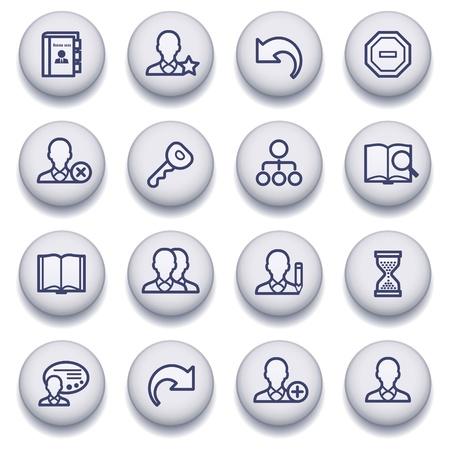 contact book: iconos conjunto de p�ginas web, gu�as, folletos. Vectores