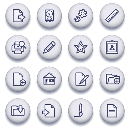 Vector icons set for websites, guides, booklets. Stock Vector - 13835988