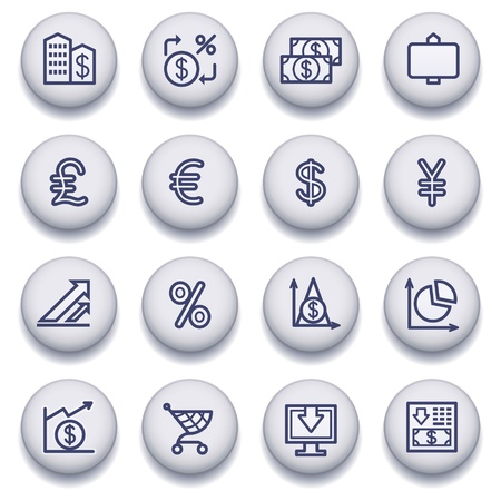 Vector icons set for websites, guides, booklets. Stock Vector - 13835999