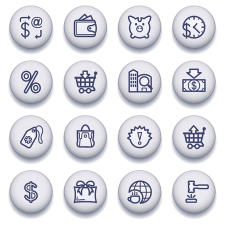 Vector icons set for websites, guides, booklets. Stock Vector - 13836024