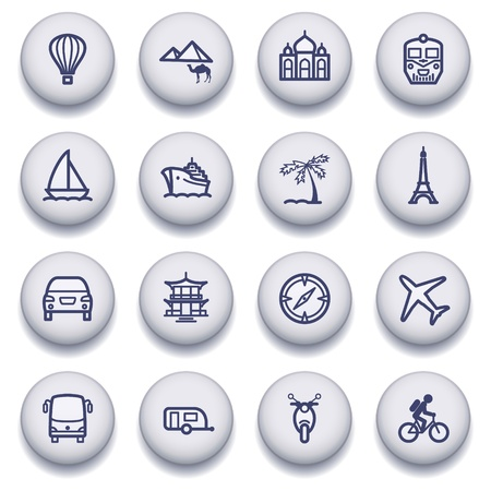 autobus: icons set for websites, guides, booklets.