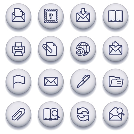 Vector icons set for websites, guides, booklets. Vector