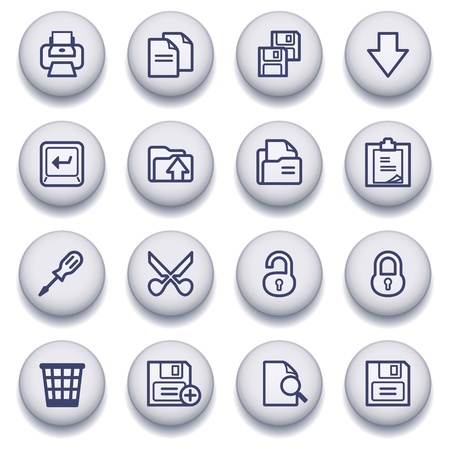 icons set for websites, guides, booklets. Vector
