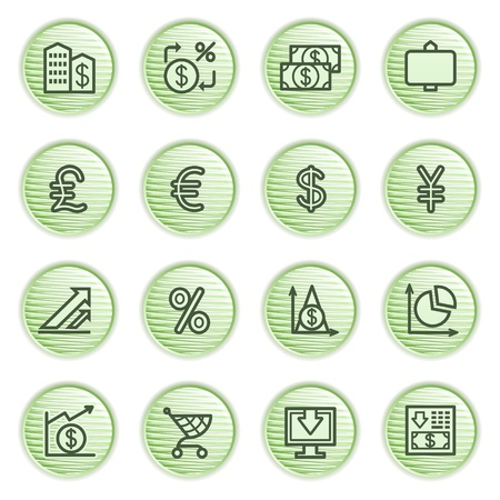 Finance icons  Green series Stock Vector - 13858953