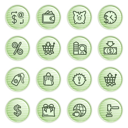 Commerce icons  Green series  Stock Vector - 13858961