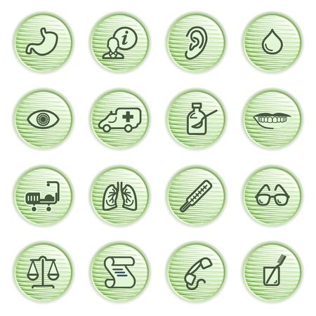 Medicine icons  Green series  Vector