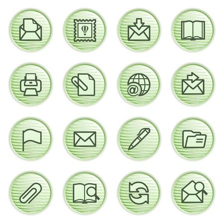 attach: E-mail iconos de la serie verde