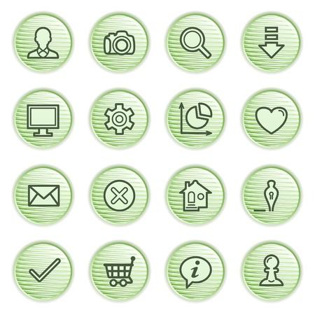 Basic contour icons   Green series Stock Vector - 13858946