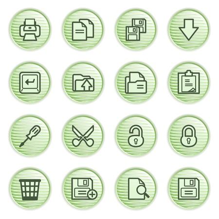 unlocked: Document web icons, set 1  Green series