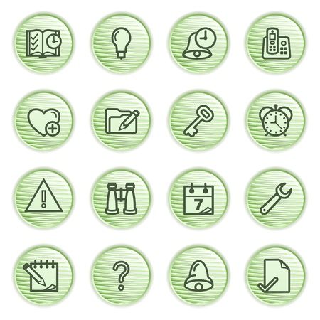 Organizer web icons  Green series  Stock Vector - 13858948