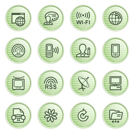 Communication icons  Green series  Stock Vector - 13858975