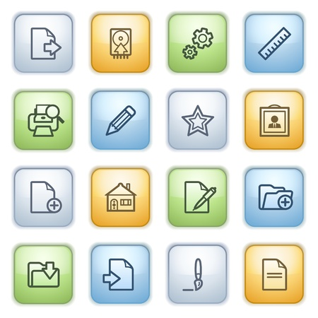 Icons set for websites, guides, booklets. Stock Vector - 13870667