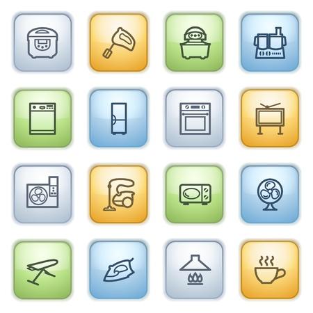 microwave antenna: iconos conjunto de p�ginas web, gu�as, folletos. Vectores