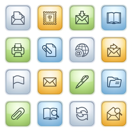 edit button: icons set for websites, guides, booklets.