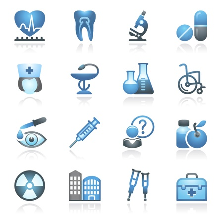 squirt: Medicine web icons, set 2  Gray and blue series