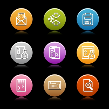 Color circle web icons, set 24 Stock Vector - 14129098