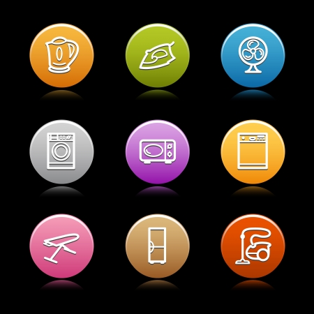 Color circle web icons, set 20 Vector