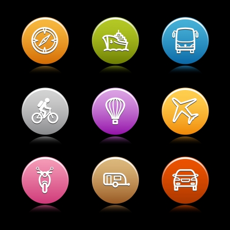 Color circle web icons, set 17 Vector