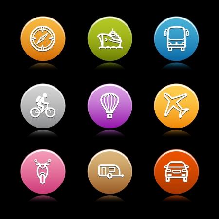 Color circle web icons, set 17 Stock Vector - 14129099