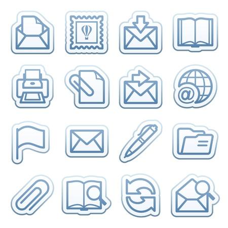 attach: Pegatinas azules web con iconos 10