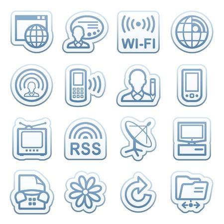 17: Pegatinas azules web con iconos 17