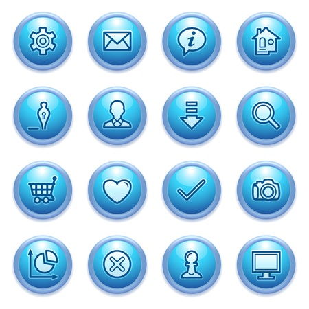 edit button: icons set for websites, guides, booklets  Illustration