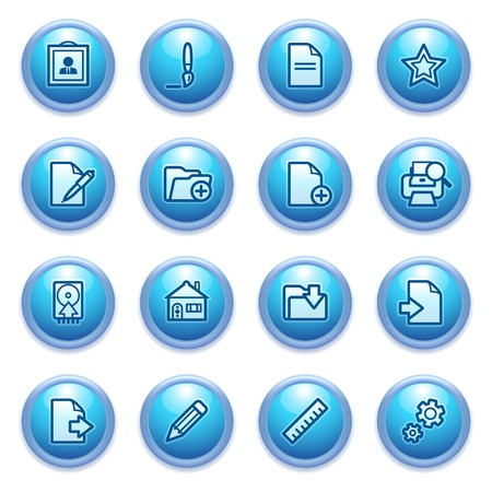 icons set for websites, guides, booklets Stock Vector - 14655534