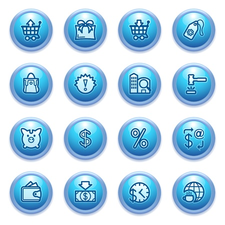 money order: icons set for websites, guides, booklets  Illustration