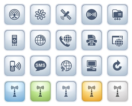 Communication icons set 2  Color series  Vector