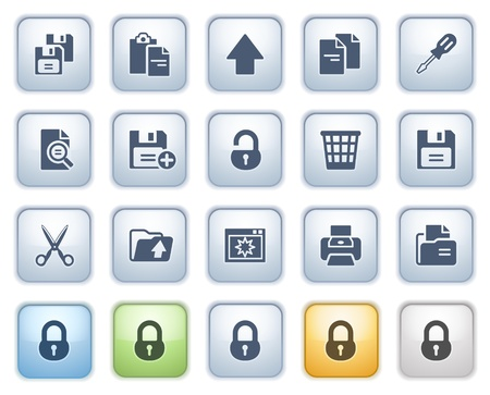 configuration: Document icons on buttons, set 1  Color series