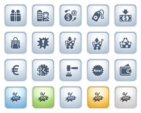 Commerce web icons  Color series Stock Vector - 15032409