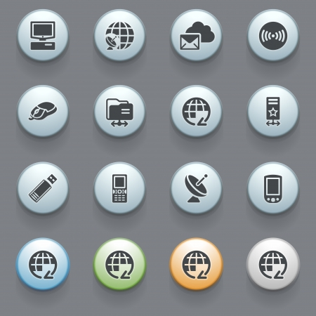communication icons: Internet icons for web site