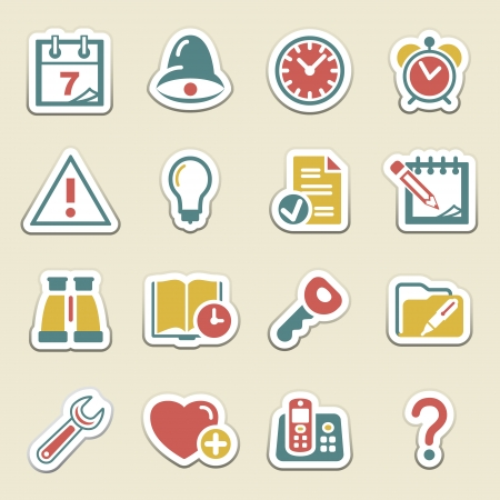 Organizer color icons  Vector