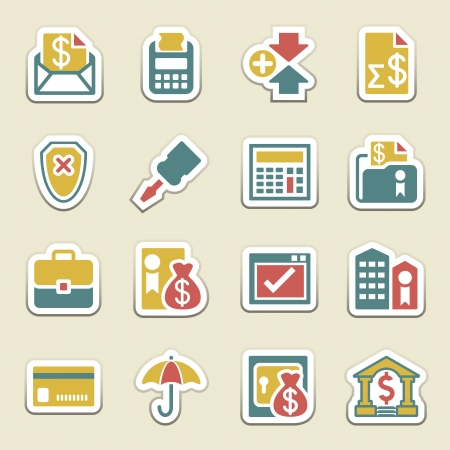checkout button: Banking color icons