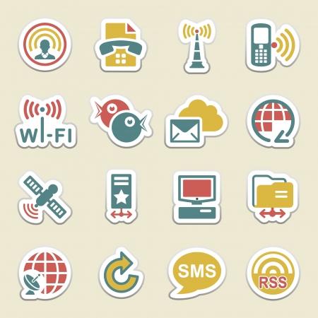 bluetooth: Communication color icons  Illustration
