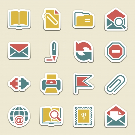 contact book: Email color icons