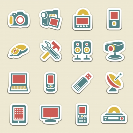 Electronics color icons  Vector