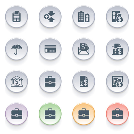 configure: Finance icons on color buttons  Illustration