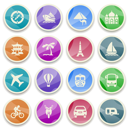 Travel color icons  Vector