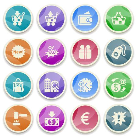 money order: Commerce color icons  Illustration