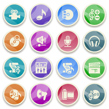 audio video: Audio video color icons