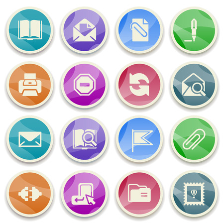 email icons: Email color icons