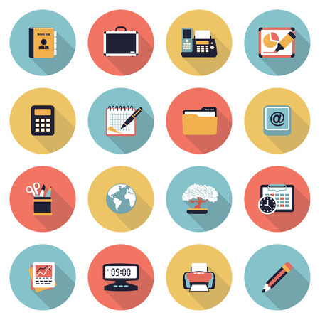 printer icon: Vector icons set for websites, guides, booklets. Illustration