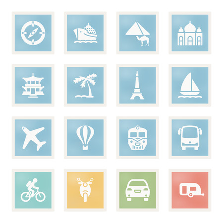 air liner: Vector icons set for websites, guides, booklets. Illustration