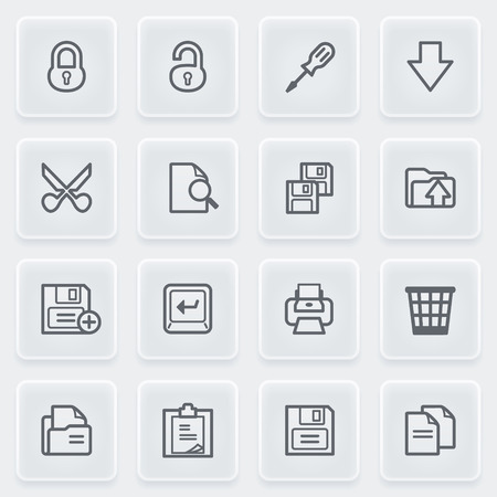 save as: Vector icons set for websites, guides, booklets. Illustration