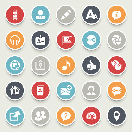Social media icons. Illustration