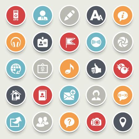 Social media icons. Illustration